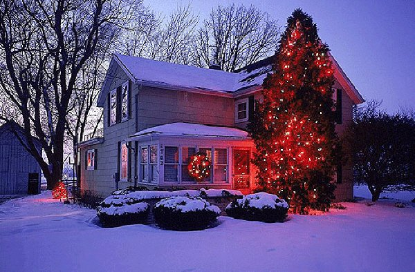 圣诞雪景组合图 - 天民 - 天民博客